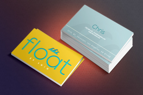 Float business card- shuttergroove- bc-mockup